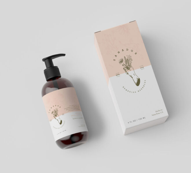 Cosmetic Bottle Packaging Showcase Mockup by Anthony Boyd Graphi
